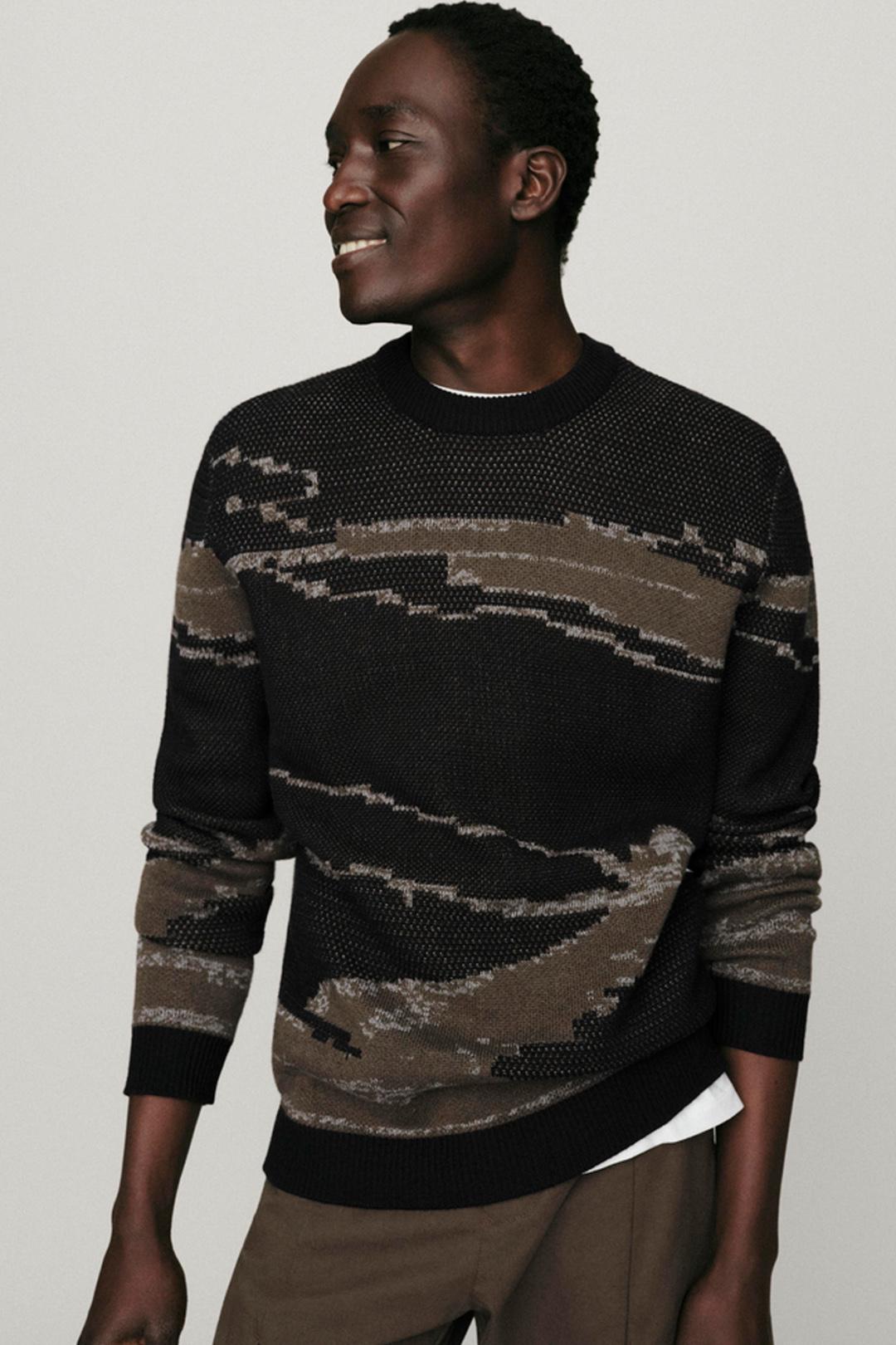 tile banner sweater